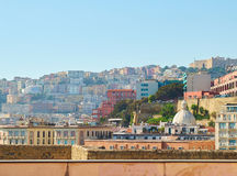 View of Naples from Castel dell`Ovo castle. Campania, Italy. Royalty Free Stock Photos