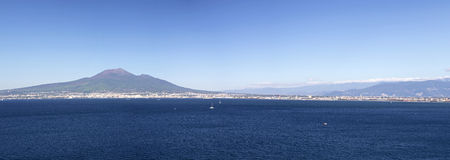 View of Naples gulf. From Sorrento coast royalty free stock image