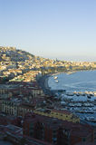 View of Naples, Italy. Stunning view of Naples and it's gulf with Vesuvio volcano stock images