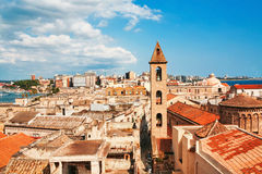 View on Naples old town under blue sky Royalty Free Stock Images