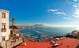 View of Naples from Posillipo Royalty Free Stock Images