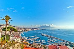 View of Naples from Posillipo Royalty Free Stock Photography