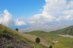 View of Naples from the slopes the volcano Vesuvius. Italy. View of Naples from the slopes the volcano Vesuvius, Italy Royalty Free Stock Photos