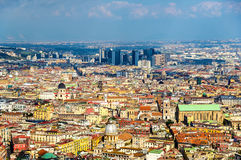 View of Naples towards the Centro Direzionale and Napoli Centrale Stock Photography