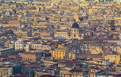 View of Naples. From the top stock image