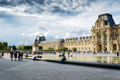 The view of the Napoleon yard and the Louvre, Paris. Royalty Free Stock Photography