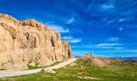 View of Naqsh-e Rustam necropolis in Iran Stock Image