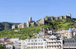 View on Narikala fortress in the old town of Tbilisi Royalty Free Stock Photos
