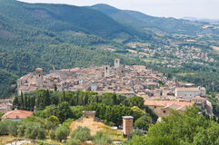 View of Narni. Umbria. Italy. Royalty Free Stock Images