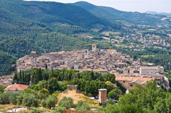 View of Narni. Umbria. Italy. Royalty Free Stock Image