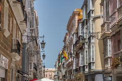 View of a narrow street Stock Image