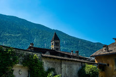 View of the narrow streets of Tirano in Italian Valtellina - 10. View of the narrow streets of Tirano in Italian Valtellina Royalty Free Stock Images