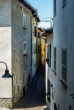 View of the narrow streets of Tirano in Italian Valtellina - 5. View of the narrow streets of Tirano in Italian Valtellina Stock Photos