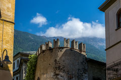 View of the narrow streets of Tirano in Italian Valtellina - 3. View of the narrow streets of Tirano in Italian Valtellina Royalty Free Stock Image