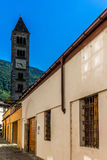 View of the narrow streets of Tirano in Italian Valtellina - 8. View of the narrow streets of Tirano in Italian Valtellina Royalty Free Stock Photos