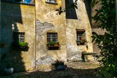 View of the narrow streets of Tirano in Italian Valtellina - 7. View of the narrow streets of Tirano in Italian Valtellina Stock Images