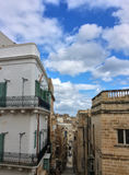 The view of the narrow streets of Valletta Stock Images