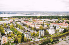 View from Nasinneula tower from Tampere Finland Stock Photo