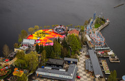 View from Nasinneula tower from Tampere Finland Royalty Free Stock Image