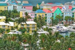 View of Nassau, Bahamas. View of the Caribbean paradise Nassau, Bahamas Royalty Free Stock Images