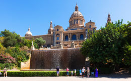 View of National Art Museum of Catalonia Stock Photo