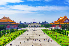 View of National concert hall buildings. View of Taiwan National concert hall buildings and Chiang Kai Shek memorial hall square Royalty Free Stock Photo
