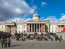 View of the National Gallery in Trafalgar Square Stock Photo