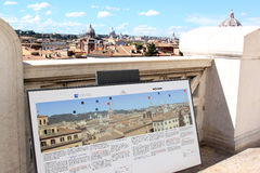 View from the National Monument at the city Rome Stock Photo