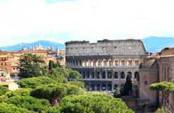 View from National Monument to the Colosseum, Rome Stock Photo