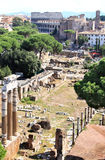 View from National Monument to Forum Romanum, Rome Royalty Free Stock Photos