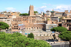 View from the National Monument to north-east, Rome Royalty Free Stock Photos