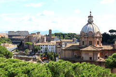 View from the National Monument to south-east, Rome Stock Images