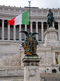 View of the national ,monument a Vittorio Emanuele II on the the Royalty Free Stock Image