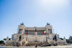 View of the national ,monument a Vittorio Emanuele II on the the Piazza Venezia Stock Images