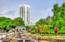 View from National Mosque of Malaysia in Kuala Lumpur Stock Image