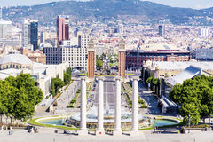 View from the National Museum of Art in Barcelona Royalty Free Stock Photo
