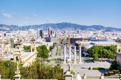 View from the National Museum of Art in Barcelona Royalty Free Stock Image