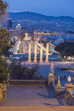 View from the National Museum in Barcelona, Catalonia, Spain Royalty Free Stock Images