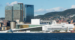 View on the National Oslo Opera House Royalty Free Stock Image