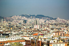 View from National Palace of Montjuic, Barcelona Stock Image