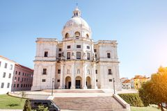Lisbon city in Portugal. View on the National Pantheon building in Alfama district in Lisbon city, Portugal royalty free stock image