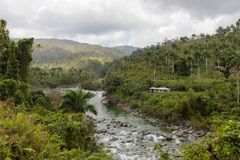 View on national park alejandro de humboldt with river Cuba stock photography