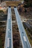 View of the national road Egnatia Odos as it appears from Mets Royalty Free Stock Images
