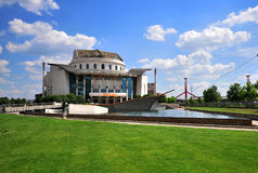 View of the National theatre building in Budapest city Stock Images