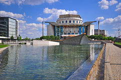 View of the National theatre building in Budapest Stock Images