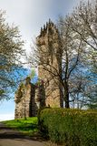 A view of National Wallace Monument at Abbey Craig hilltop near. Stirling, central Scotland Royalty Free Stock Photography