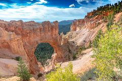 View on a natural arche, Bryce Canyon, Utah stock photos