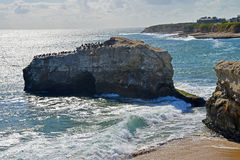 View of the Natural Bridge in the Natural Bridges National Park in Santa Cruz. Stock Images