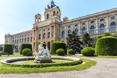 View of Natural History Museum in park Maria-Theresien-Platz  in Royalty Free Stock Image
