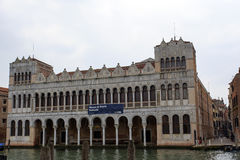 View of the natural history museum in Venice over the grand cana Royalty Free Stock Photos